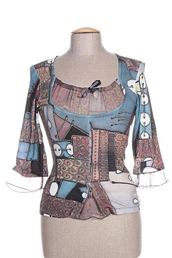 coco menthe t-shirts femme de couleur bleu