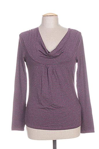 T-shirt manches longues violet DIXIT pour femme