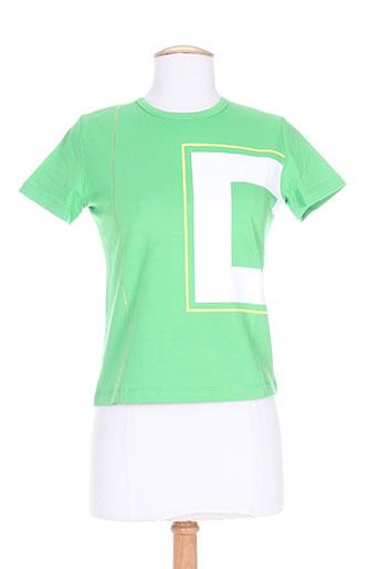 cheyenne t-shirts femme de couleur vert