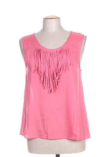 lara-ethnics t-shirts femme de couleur rose