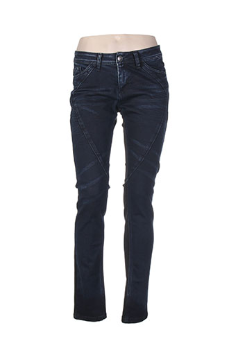 cream jeans femme de couleur bleu