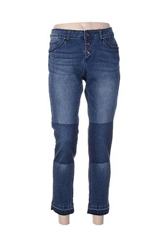 s.oliver jeans femme de couleur bleu