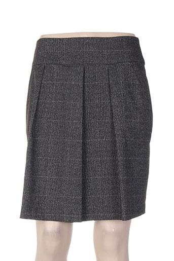 Jupe courte gris DIXIT pour femme