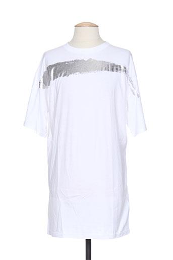 T-shirt manches courtes blanc DSQUARED pour homme