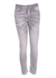 Jeans coupe slim gris DSQUARED pour garçon