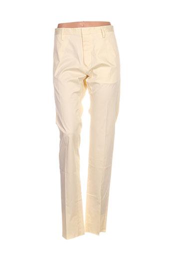 dsquared pantalons femme de couleur jaune