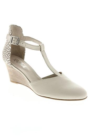 rebelles chaussures femme de couleur beige