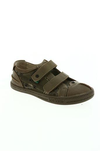 kickers chaussures garçon de couleur vert
