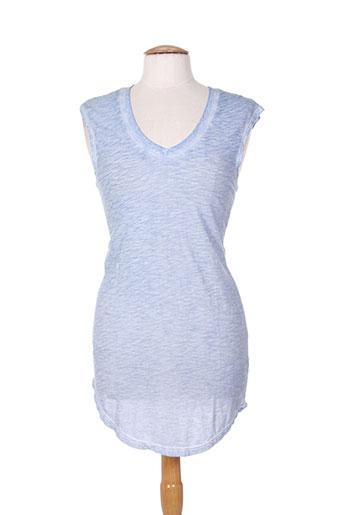 bobi tuniques femme de couleur bleu