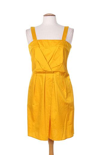 Robe mi-longue jaune TARA JARMON pour femme