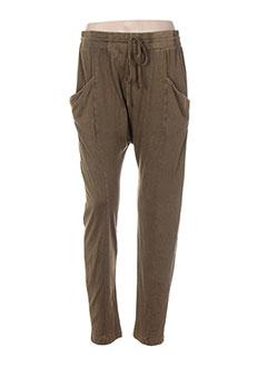 Pantalon casual vert BOBI pour femme