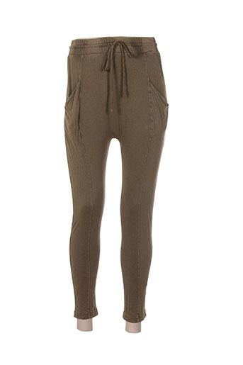 bobi pantalons femme de couleur vert