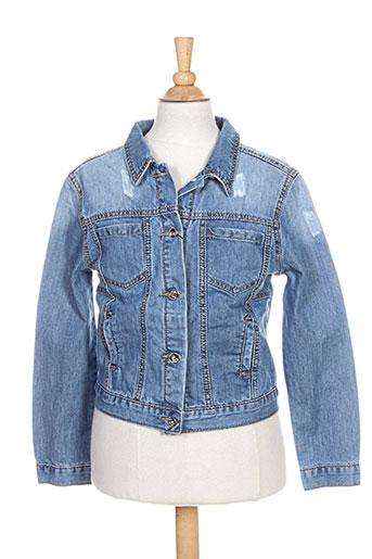 pm loving vestes fille de couleur bleu