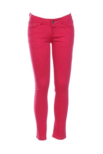 naava pantalons fille de couleur rose