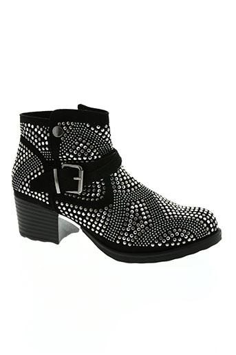 ideal shoes chaussures femme de couleur noir