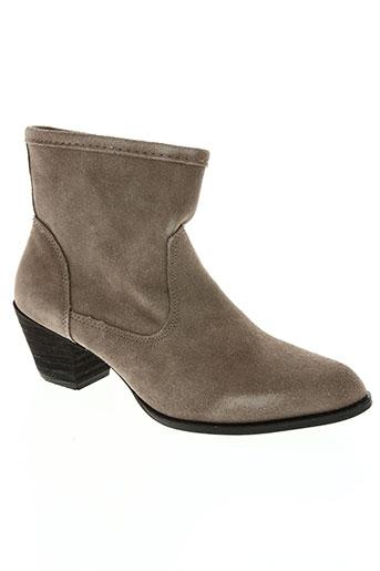 Bottines/Boots beige HEMJI pour femme
