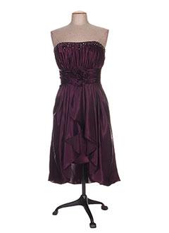 Robe mi-longue violet ANNIE COUTURE pour femme