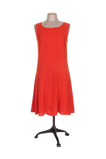 franck anna robes femme de couleur orange