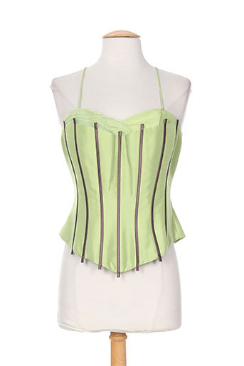 creatif paris chemises femme de couleur vert
