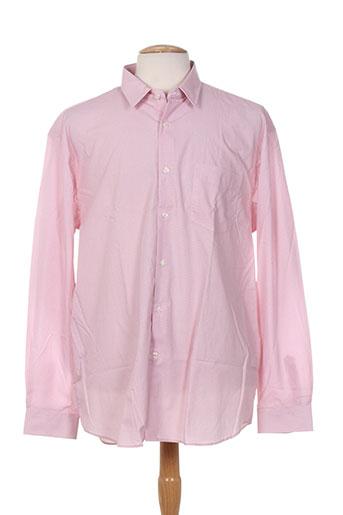 ted lapidus chemises homme de couleur rose