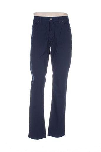 gianni marco pantalons homme de couleur bleu