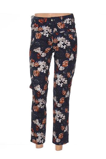 mensi collezioni pantalons femme de couleur bleu