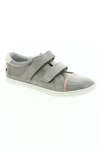gbb chaussures fille de couleur gris