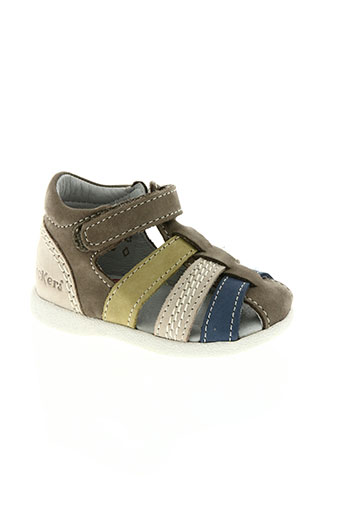 kickers chaussures garçon de couleur gris