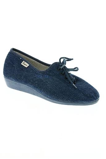 bayona chaussures femme de couleur bleu