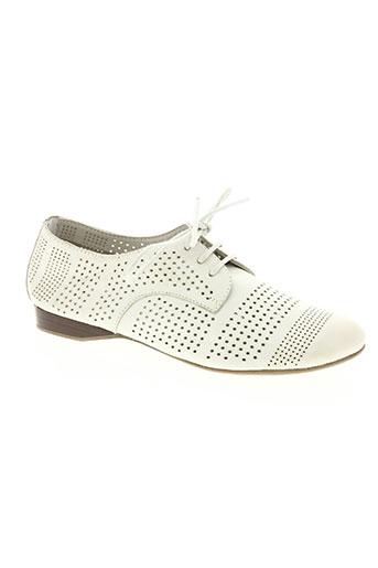 regarde le ciel chaussures femme de couleur blanc