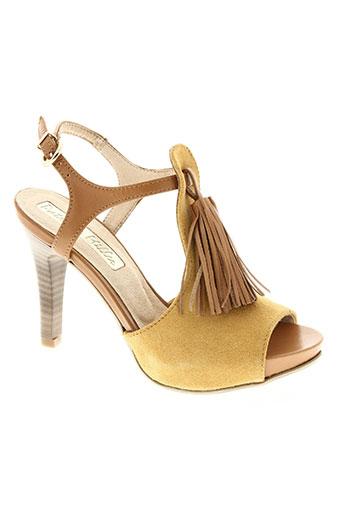 patricia miller chaussures femme de couleur jaune
