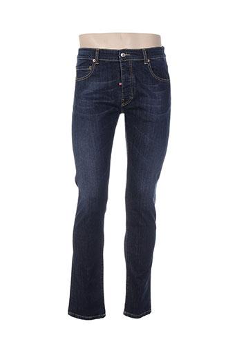french kick jeans homme de couleur bleu