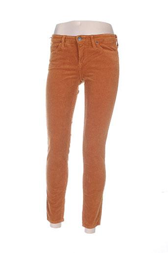 lee pantalons femme de couleur marron