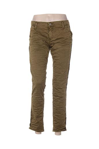 please pantalons femme de couleur vert