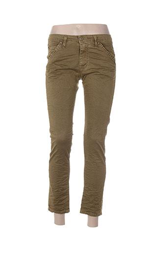 please jeans femme de couleur vert