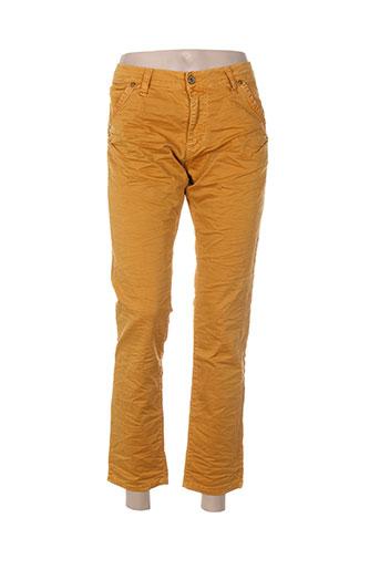 please jeans femme de couleur orange