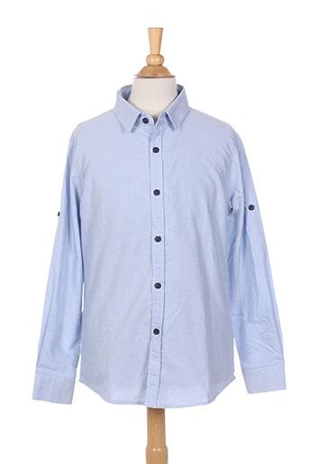 please chemises garçon de couleur bleu