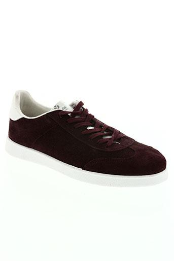 victoria chaussures homme de couleur rouge