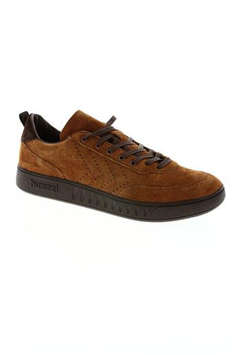 hummel chaussures homme de couleur marron