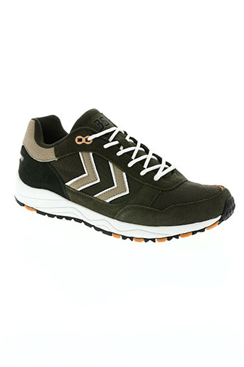 hummel chaussures homme de couleur vert