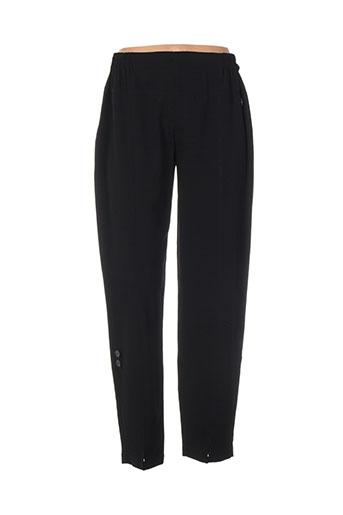 one o one pantalons femme de couleur noir