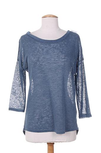 mielo moda pulls femme de couleur bleu