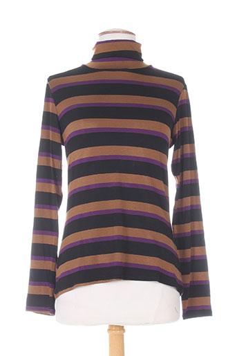 mielo moda t-shirts femme de couleur marron