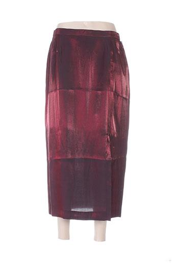 jean biolay jupes femme de couleur rouge