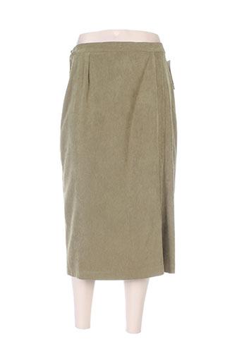 brigitte saget jupes femme de couleur vert