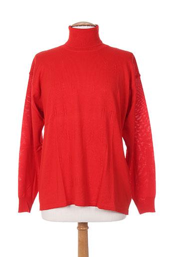 bleu de chine pulls femme de couleur rouge