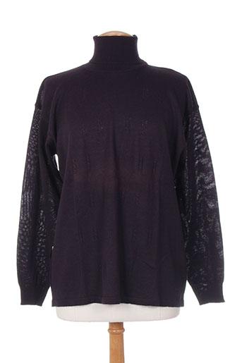 bleu de chine pulls femme de couleur violet