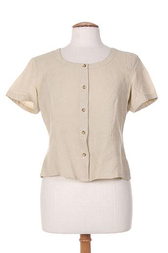 ishwar chemises femme de couleur beige