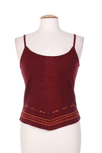 ishwar chemises femme de couleur rouge