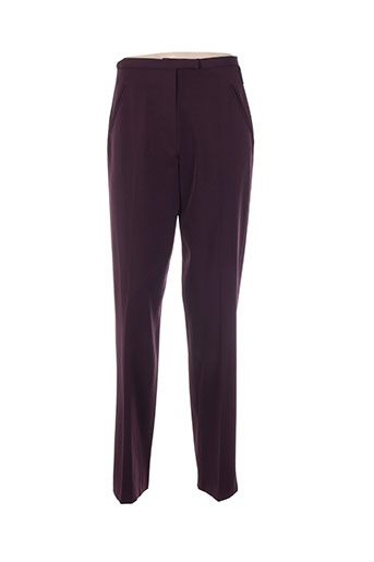 ishwar pantalons femme de couleur violet